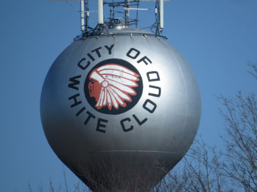 White Cloud water tower