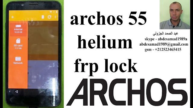 frp reset archos 55 helium frp lock bypass google account remove