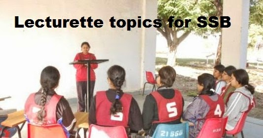 Lecturette Topics For Ssb Jobsfundaz