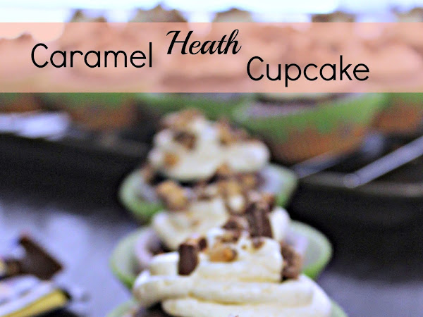 Caramel Heath Cupcakes