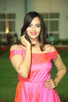 Actress Pujita Ponnada in beautiful red dress at Darshakudu music launch ~ Celebrities Galleries 014.JPG