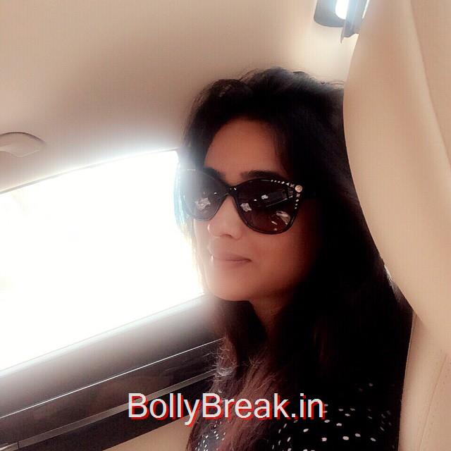 the only difference between a good day and a bad day is your attitude 😎, Shweta Tiwari Selfie Photo Gallery 2015