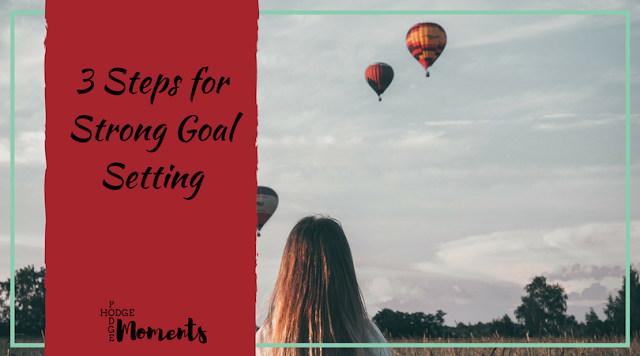 3 Steps for Strong Goal Setting