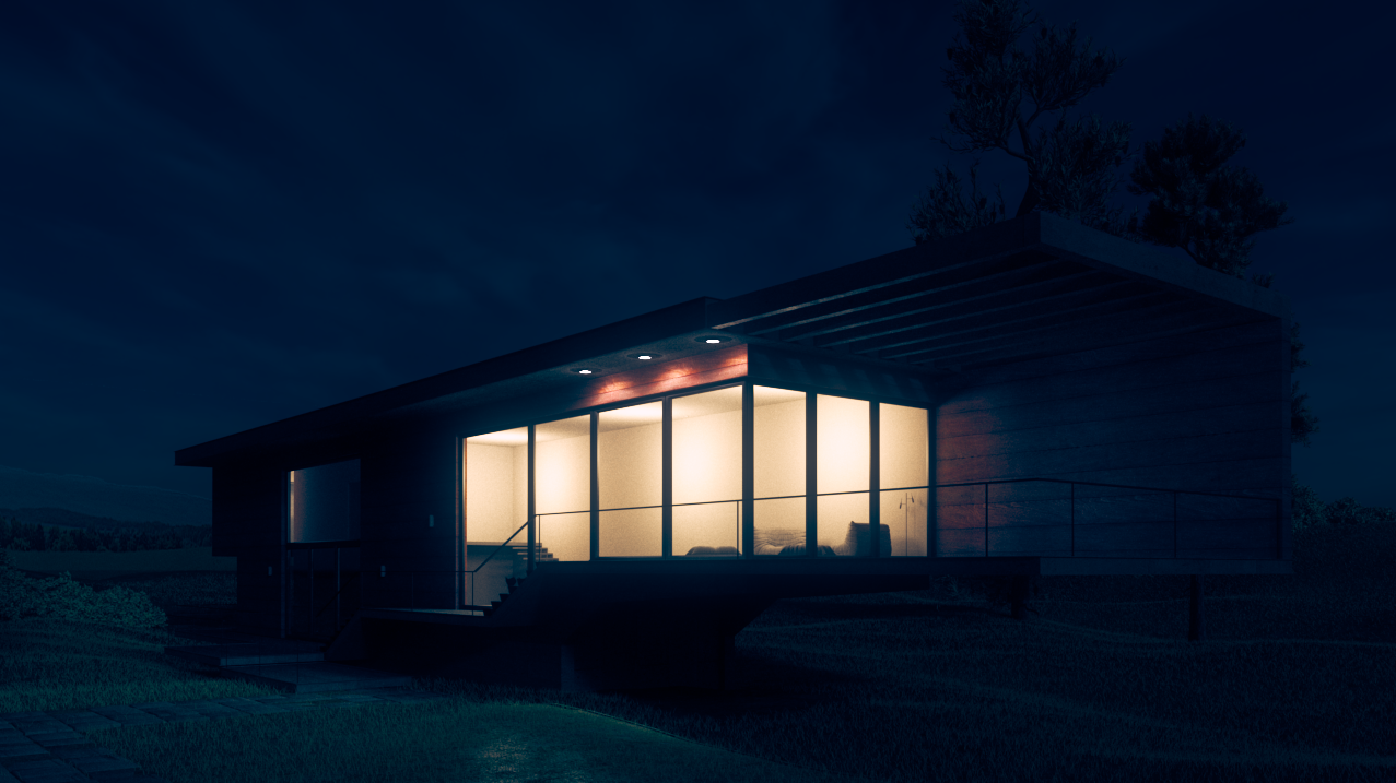 Night Time Exterior Lighting Vray For Rhino Cg Tutorial
