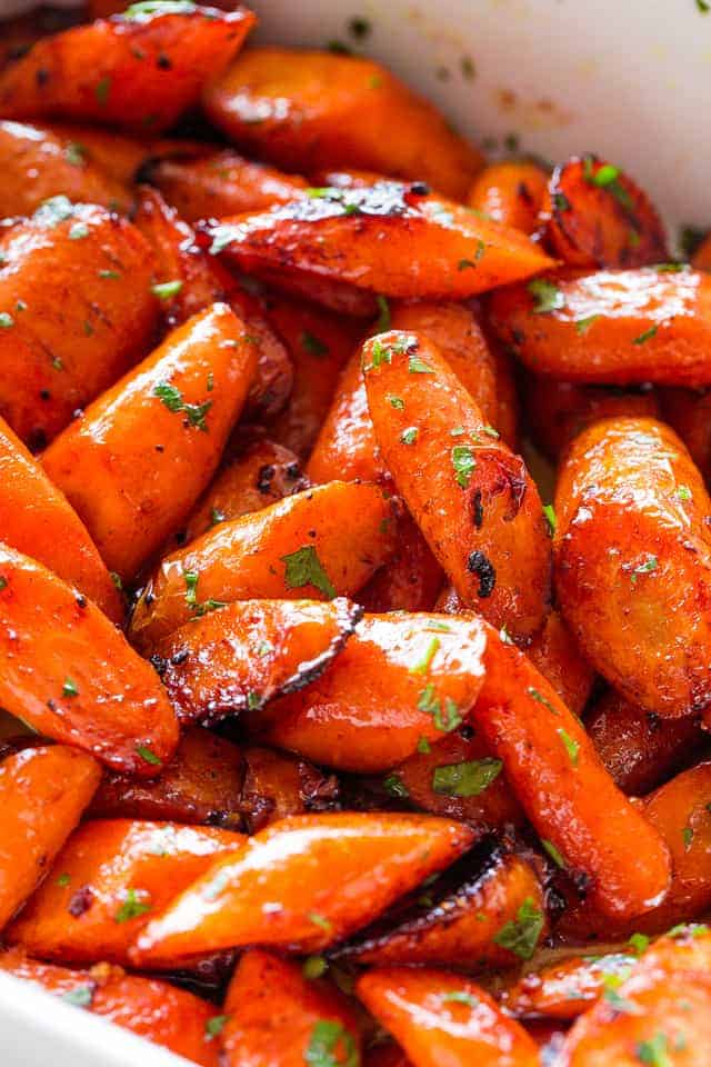 Honey Garlic Butter Glazed Carrots