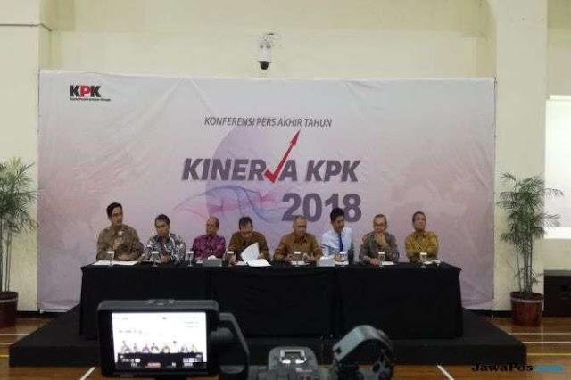KPK Paling Banyak Tangani Kasus Suap Selama 2018