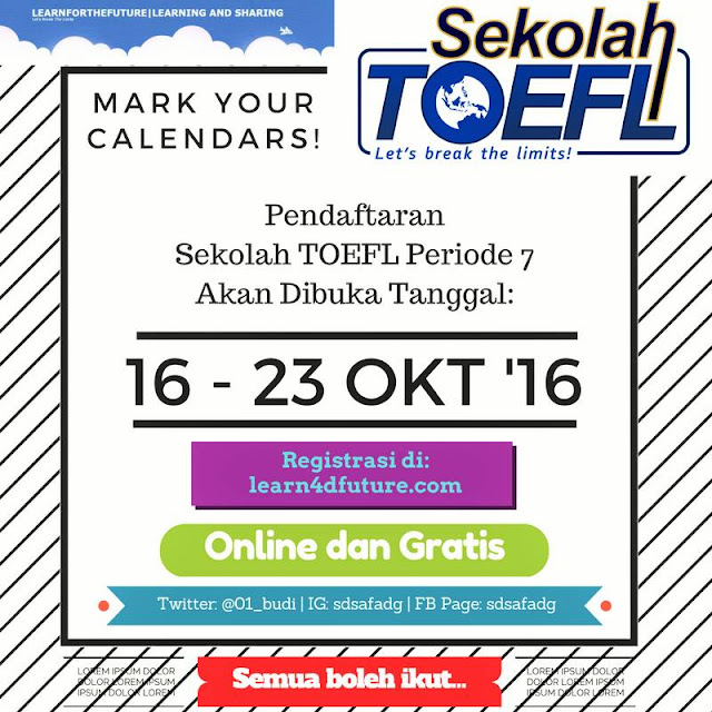 Sekolah TOEFL: Membangun Pendidikan Indonesia Melalui Teknologi Pembelajaran Jarak Jauh