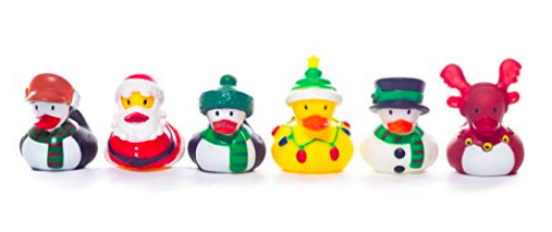 Christmas Eve Box Ideas for a One Year Old  - christmas rubber duck bath toys