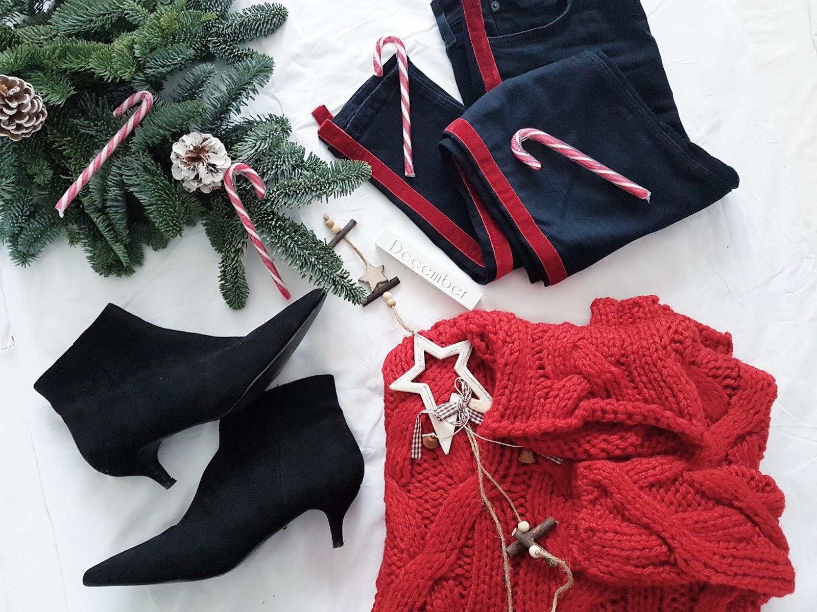 Red & navy czyli płaszcz, golf i strój dnia