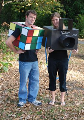 Rubik's cube Nikon camera cardboard costume