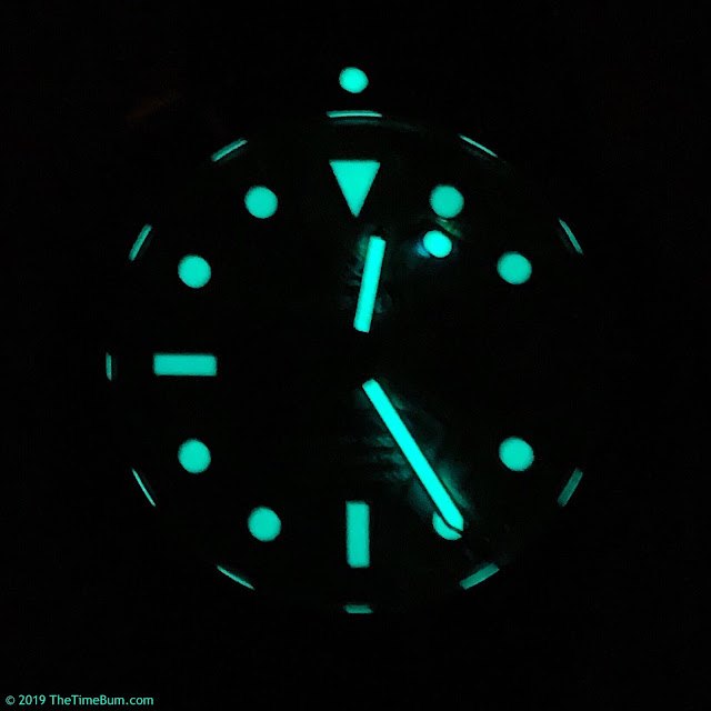Deep Blue Diver 1000 abalone lume