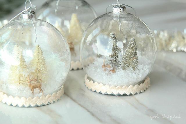 bolas de nieve DIY