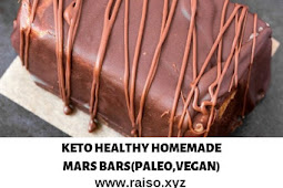 KETO HEALTHY HOMEMADE MARS BARS (PALEO,VEGAN)