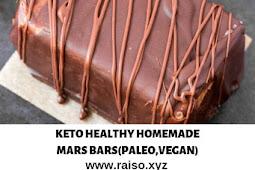 KETO HEALTHY HOMEMADE MARS BARS (PALEO,VEGAN)
