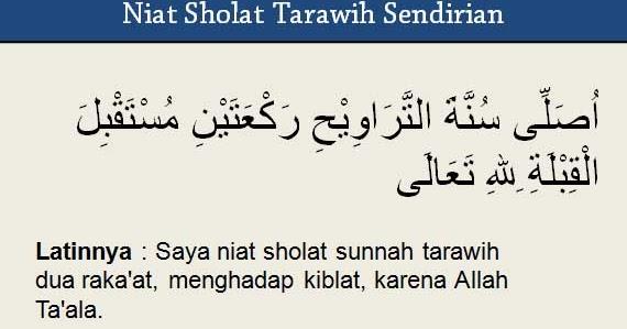 Niat Sholat Tarawih untuk Imam, Makmum, atau Sendirian ...