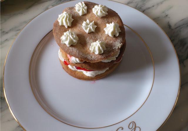 Millefeuille sablé fraise mascarpone