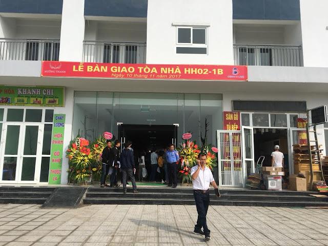 Lễ bàn giao tòa nhà hh02-1b chung cư Thanh hà Mường Thanh