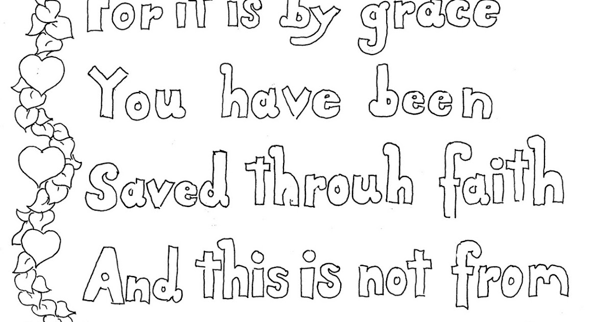 Coloring Pages for Kids by Mr. Adron: Ephesians 2:8-9