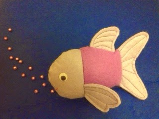 felt fish, felt toys, happy fish