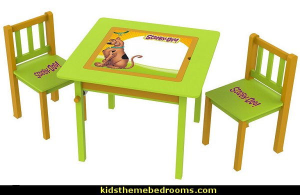 Scooby Doo Kids' 3 Piece Square Table and Chair Set