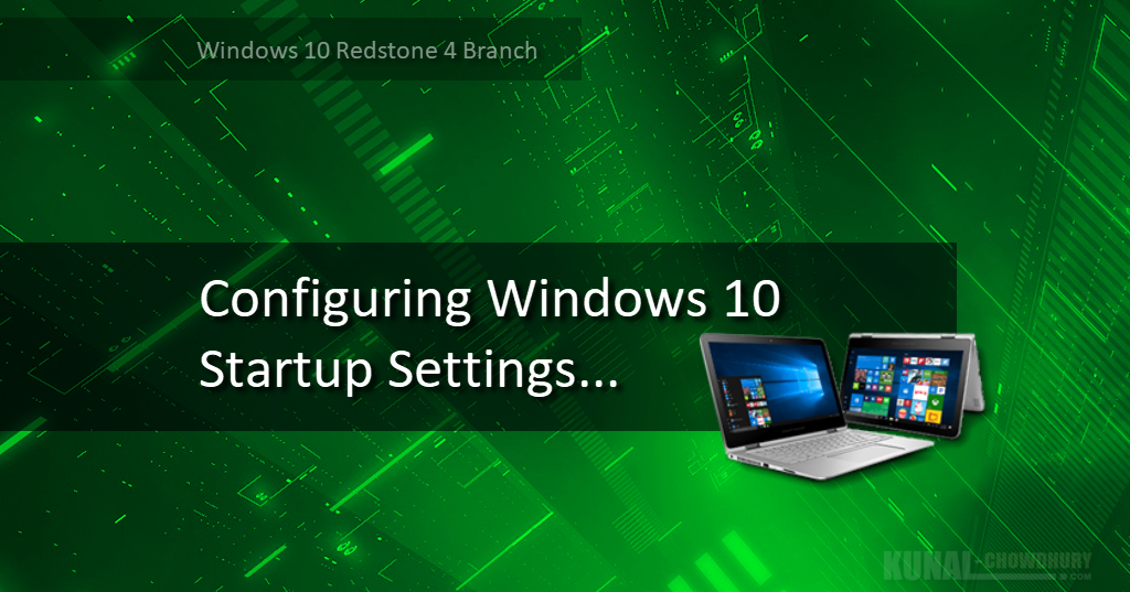 Windows 10 Is Going To Get A New Startup Settings Page
