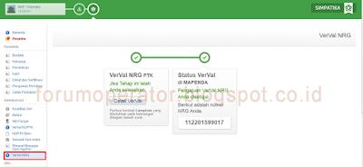 Tutorial Lengkap Verval NRG Simpatika
