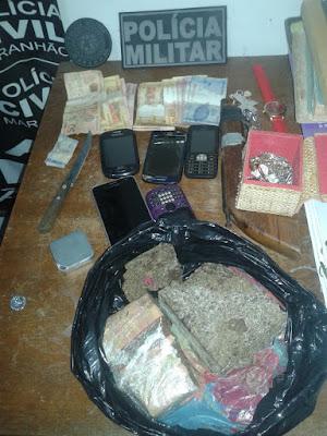Na cadeia: trio acusado de tráfico é preso com drogas e arma de fogo em São Benedito