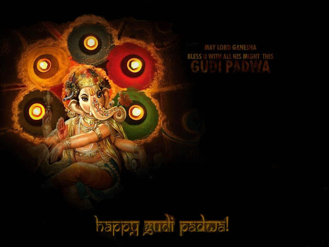 Happy Gudi Padwa Ganesh Ji Wallpaper Hd