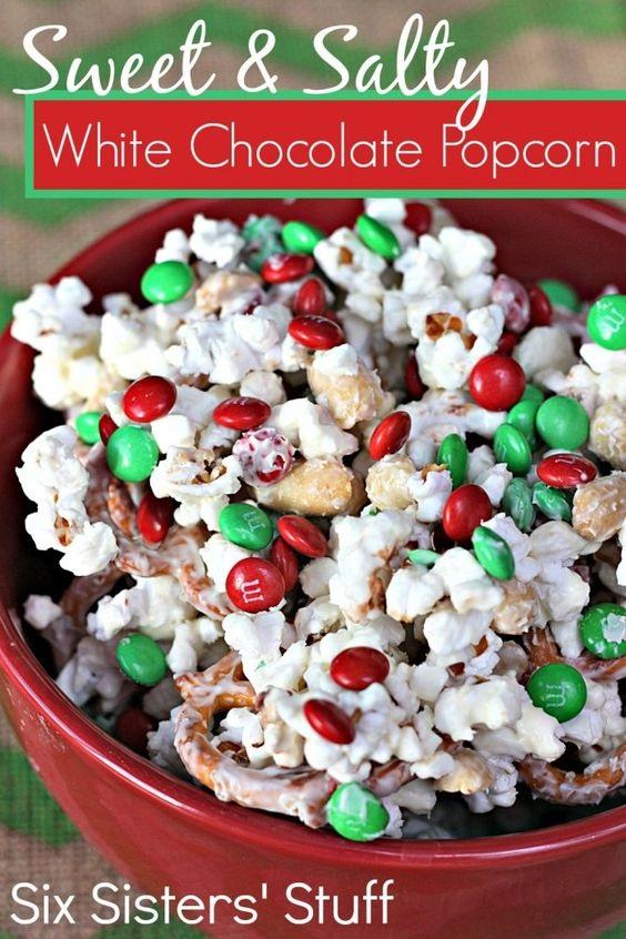 Sweet And Salty White Chocolate Popcorn Recipe