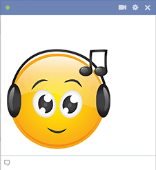 Facebook Smiley Listens to Music
