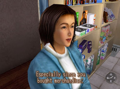 """Especially since you bought merchandise."""