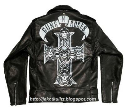 Gambar Jaket Kulit Guns N Roses