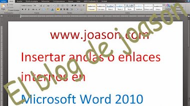 Poner anclas o enlaces internos en word 2010