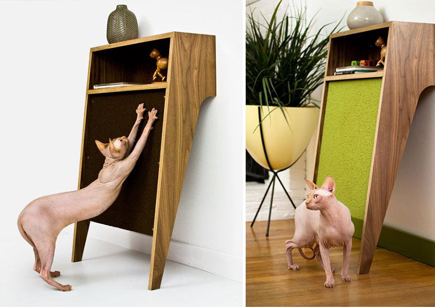 Cat scratch cabinet