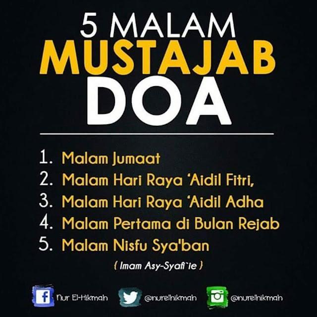 5 Malam Mustajab Doa!
