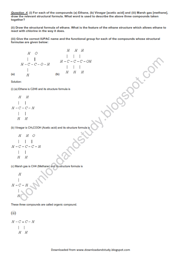 Download & Study: Organic Chemistry Important Question
