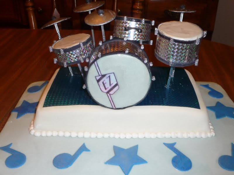 Super Icing On Top Cakes For Every Occasion Drum Set Birthday Cake Personalised Birthday Cards Veneteletsinfo