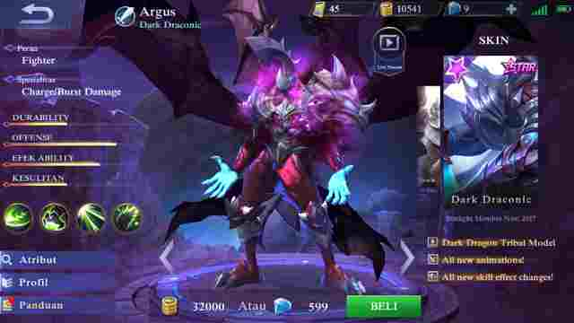 Gear Hero Argus Mobile Legend Terkuat Paling Baru