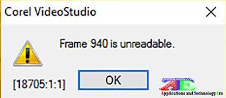 Frame 7165 is Unreadable corel videostudio x10