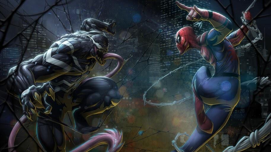 Venom vs. Spider-Man, Marvel, Comics, 8K, #6.1335