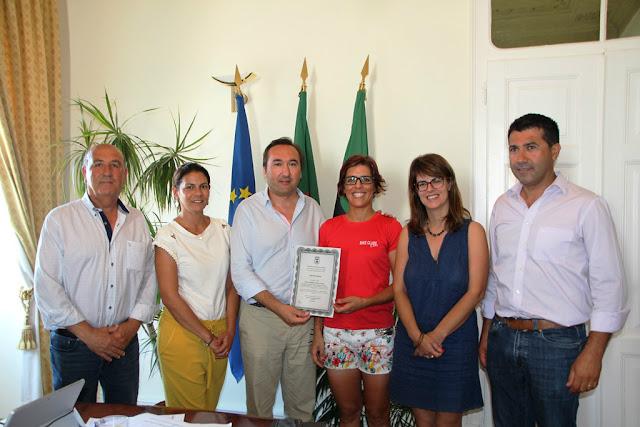 Irina Coelho recebeu voto de louvor do Município de São Brás de Alportel