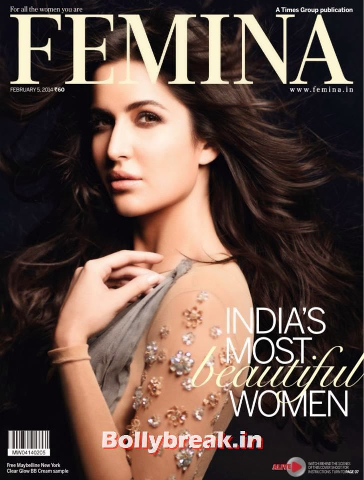 , India's Most Beautiful Women - Katrina Kaif on Femina Cover