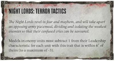 Tácticas de terror Amos de la Noche