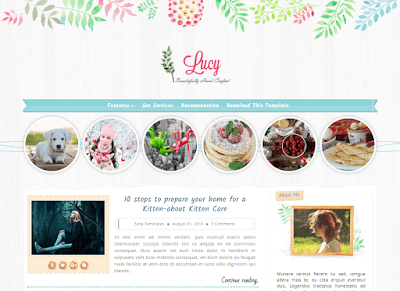 Lucy Blogger Template
