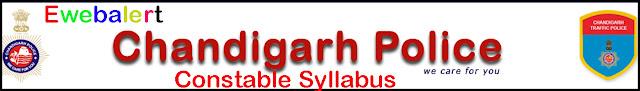 Chandigarh Police Constable Exam Syllabus