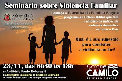 Seminário sobre Violência Familiar no Auditório Paulo Kobayashi em SP