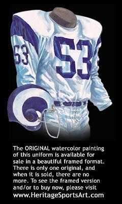 Los Angeles Rams 1965 uniform - St. Louis Rams 1965 uniform