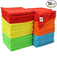 Microfiber cleaning cloths pack of 50