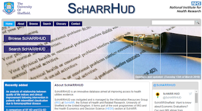 Screenshot of the ScHARR HUD website
