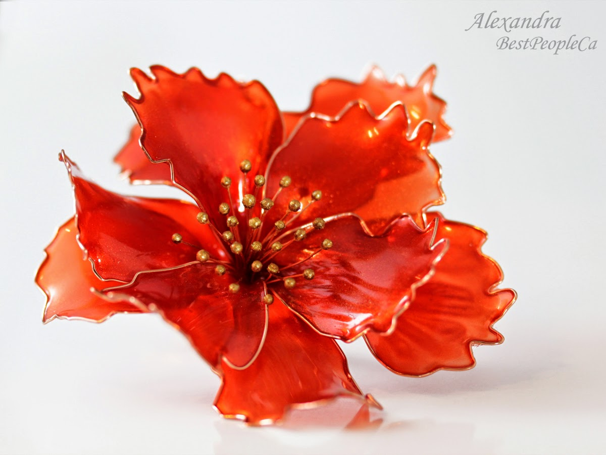 The hair stick The Scarlet Flower
